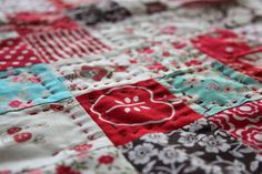 like the hand stitched quilting with embroidery thread