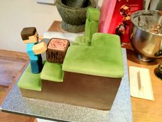 Absolutely stunning minecraft themed cake.