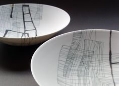 Tania Rolland drawings on porcelain