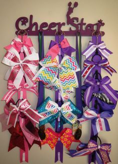 Pin by Shannon Wall on CHEER BOW HOLDER IDEAS Pinterest