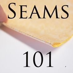 Sewing Seams Tutorial