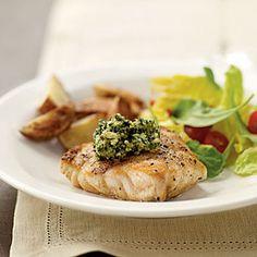 Grilled Grouper with Basil-Lime Pistou | MyRecipes.com