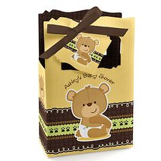 Baby Teddy Bear - Personalized Baby Shower Favor Boxes | BigDotOfHappiness.com #BigDot #HappyDot