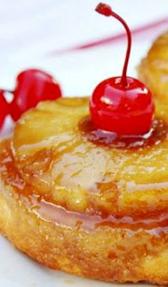 Pineapple Upside-Down Cupcakes Recipe ~ Divinely delicious!