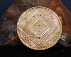 Narcotics Anonymous Vintage 7 Year Bronze Medallion 2005 Series Coin Chip Token | eBay