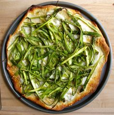 Shaved Asparagus Pizza | Patent and the Pantry