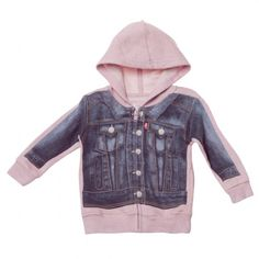 For the tiny one a zip hoodie with a photo of a real jacket, so cute.