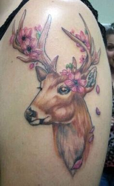 Deer with a wad of dip tattoo. Are you that redneck?!