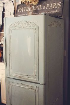 Lets Turn Ugly Old Fridge Into Shabby French Beauty
