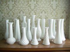 i want milk glass vases