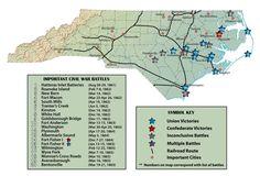 map of important civil war battles