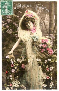 Vintage Image, French Postcard Vintage images from art-e-zine.co.uk
