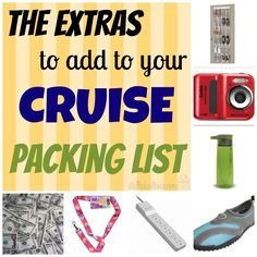 Cruise Packing List Extras - list of items that you should pack for your cruise StuffedSuitcase.com family travel tip