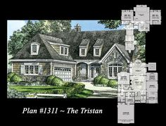 window, hous plan, plantation house with garage, house plans