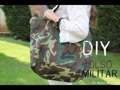 DIY Cómo hacer un bolso de tendencia militar muy fácil - YouTube