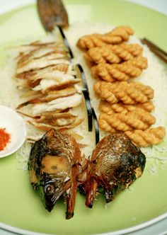 Snakehead fish two ways—smoked and fried—at Yu's Family Kitchen