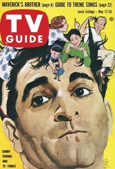 Danny Thomas in Make Room for Daddy (1953-57, ABC & 1957-64, CBS), TV Guide, May 17, 1958.
