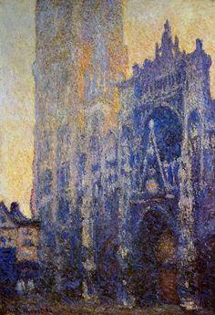 peinture : Claude Monet, la cathédrale de Rouen, bleu  La misma Catedral en diferentes horas del dia! Grande Monet!!!