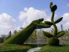 Chinese Topiary Garden. So cool!