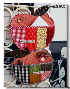 Apple Pockets for small stuff. {or could make as potholders?} -- cutest things ever!!