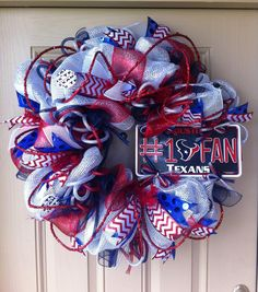 Deluxe Deco Mesh Houston TEXANS Wreath by SparkledIntentions, $110.00