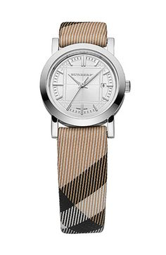 Burberry Small Check Strap Watch available at #Nordstrom