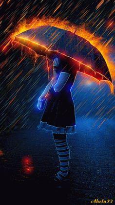 Efeito ♥♥ umbrella, paint, storm