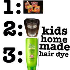 kids hair dye kool aid...yupp I did it:)