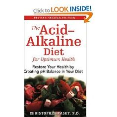 Intrigued by Alkaline balancing in the body- I shall research this