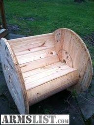 empty industrial wooden spool idea | wire spool furniture - Google Search
