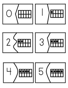 Great idea for number identification and teaching to count. Ten Frame Puzzle 0-10