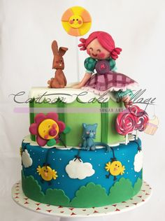 Liludori's+World+-+Character+by+Eloisa+Scichilone.  Cake+by+Eliana+Cardone+from+Cartoon+Cake+Village