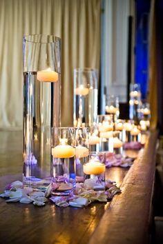 asymmetrical candle decor