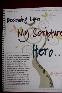 Scripture Hero booklet - choose someone from the scriptures and learn about them in detail for 2 weeks