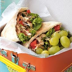 22 Healthy Lunch Ideas | Little Italy Chicken Pitas | CookingLight.com