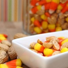 Candy Corn Mix - great for the Fall or Halloween Party. Tastes incredibly like a Payday Candy Bar.
