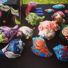 Painted sea shells