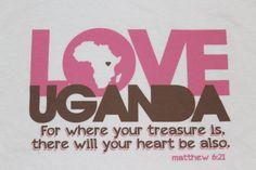 LOVE UGANDA T-Shirt {{love}} from etsy shop.