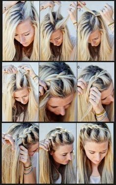 french braids, bang braid, ladi hair, hair tutorials, summer hair