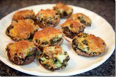 Stuffed Mushrooms Recipe Weight Watchers #Recipe #Healthy #WeightWatchers