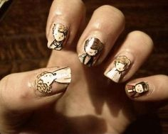 One Direction nail art - I am in love with these