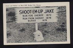 boot hill cemetery   Dodge City Kansas Boot Hill Cemetery Sheriff Grave Vintage Postcard ...