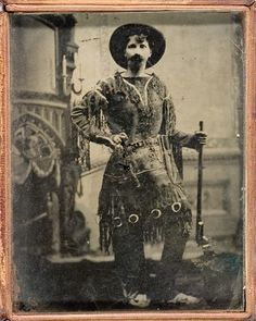 Quarter Plate Tintype of Wild West Sharp Shooter, - Cowan's Auctions