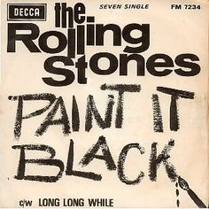 Record sleeve for 'Paint It Black' single issued in South Africa, 1966