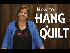 very useful! How to hang a quilt.