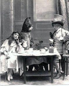 Alice in Wonderland, 1898. | play | theatre | kids | children | vintage | old | miniature