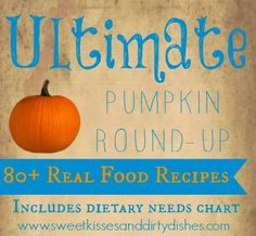 Ultimate Pumpkin Recipe Round-up (with dietary needs chart)