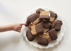 Chocolate Covered Baked S'mores.  YUM!