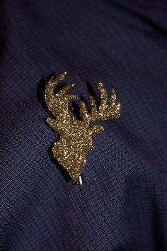 reindeer pin, glitter reindeer, shrinki dink