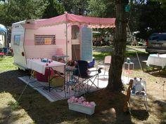 baby pink vintage trailer...
